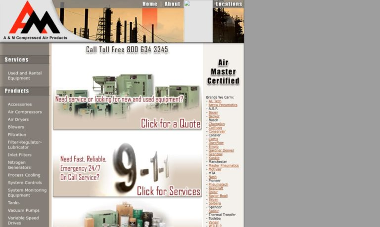 A & M Compressed Air Products, Inc.