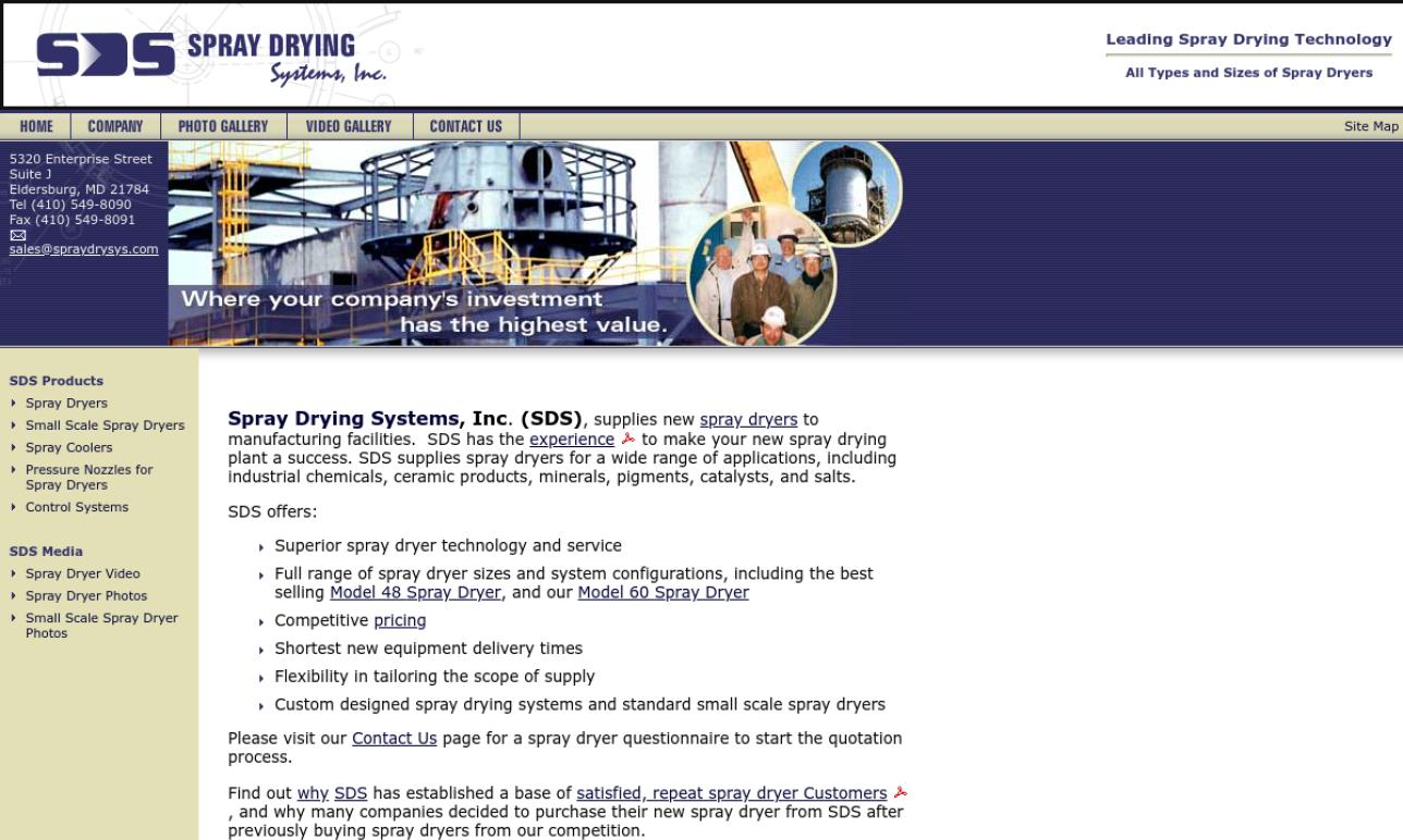 Spray Drying Systems, Inc.
