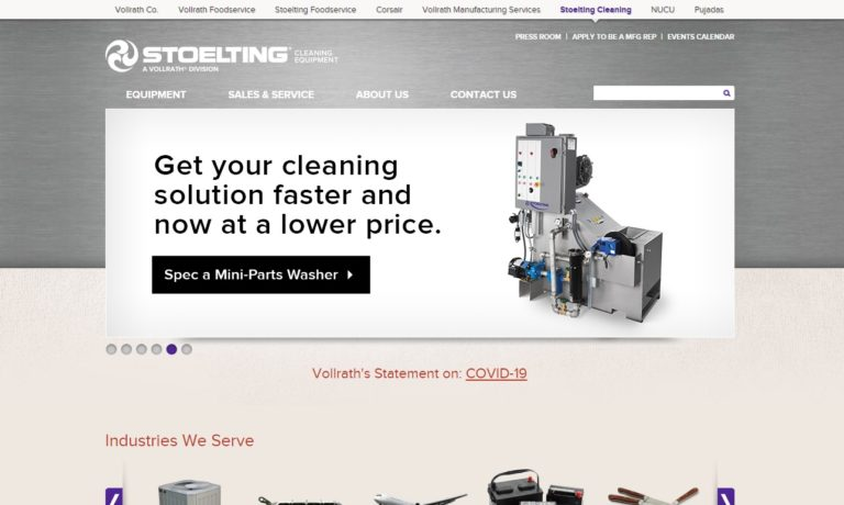 Stoelting Cleaning Equipment